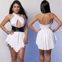 Nightclub sexy bandage dress halter dress Bandage dress stitching