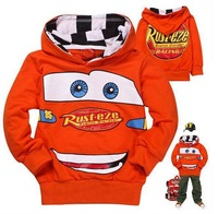 Retail 1pcs 100% cotton spring and autumn Cartoon cars hoodies kids baby clothing sweatshirts in stock