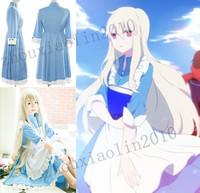 The Kagerou Project Kozakura Mari Girls women Dress+Apron Cosplay Costume New