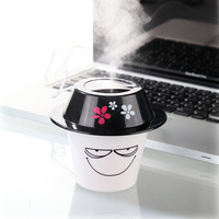 2pcs/lot Cup shape Smile humidifier of Portable USB DC 5V Air Humidifier Purifier Mist Maker For Home Office Computer PC Laptop