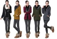 2014 hot Winter Simple Fashion Casual Warm Thicken Women Hooded Coat Fleece Cardigan Sweatshirts Plus Size Outwear