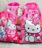 48PCS New Arrived Children's Cartoon Printing Backpack Kids Beach Bag For Girls Boys Non-woven Sport Bag, 1855 satchel