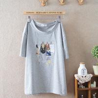 2014 new summer short-sleeved women ladies girls t-shirt embroidered t shirt 904