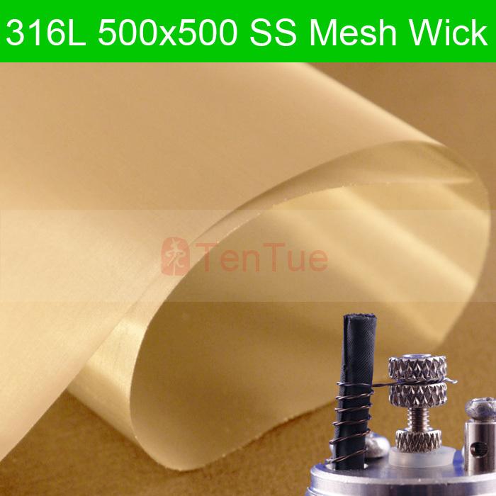 melhor qualidade 316l 500 inox malha wick ss wick 500x500 para atty wick 20