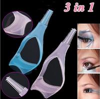 (Minimun Order 10$) 3 in 1 Makeup Eyelash Curler Mascara Guard Applicator Comb Brush Cosmetic Tool