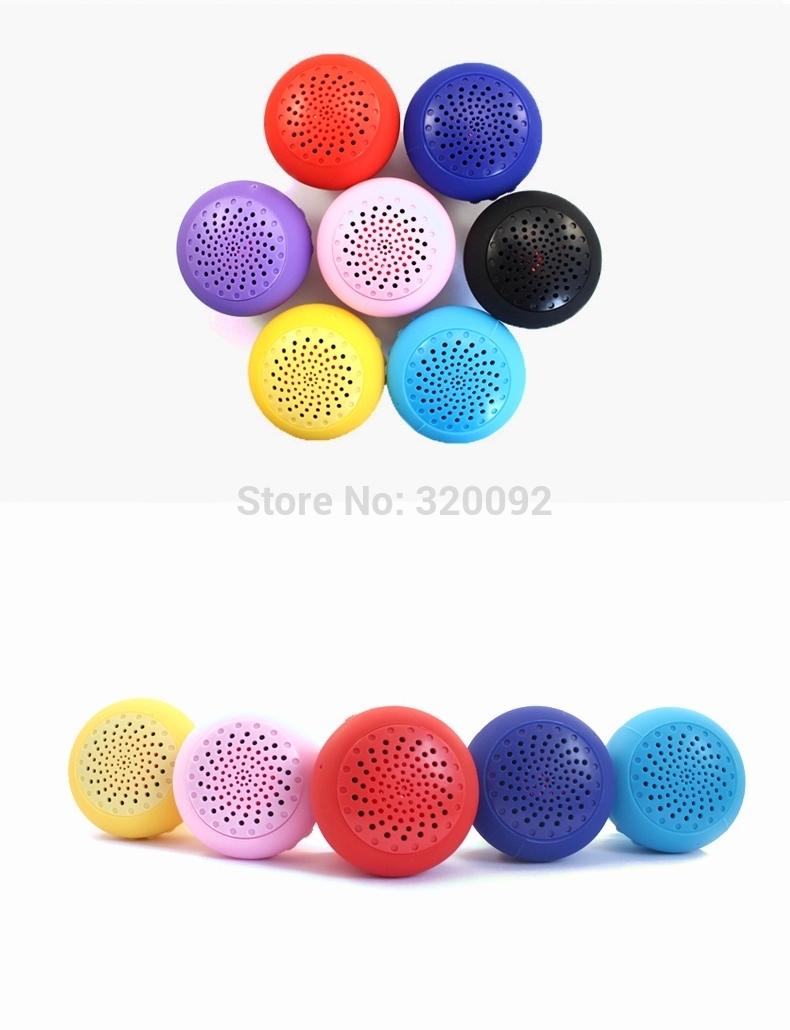 Mini Speaker Portátil impermeável sem fio Bluetooth alto-falante Mashroom Silicone Ventosa Suporte kit Car Mão-livre frete grátis(China (Mainland))