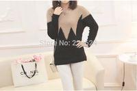 New Autumn - Winter women cashmere sweater Neck  branch print Gradient Color design pullover sweater large size S-L1499