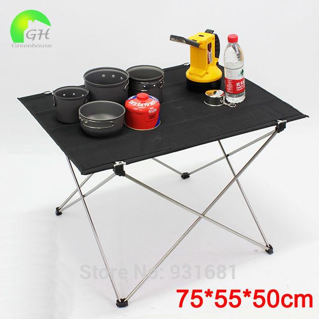 Free Shipping Ultra-light Alumnium Alloy Portable Folding Outdoor Furniture Camping Beach Picnic Barbecue Table Garden Desk(China (Mainland))