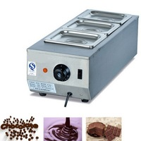 DIY 3 tanks Electric chocolate stove, 3 pots stainless steel  baking chocolate melting machine
