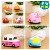 free shippingSmall household appliances Pig Mini Desktop Vacuum Cleaner Portable Desktop cute cleaner sweeping confetti