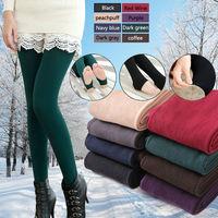 2014 Spring Autumn Winter Women Stretch Fleece Leggings Warm Fitness Leggins Cotton Blend Legging