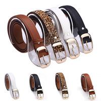 New Arrival 2014 Fashion Women Belt Hot Ladies Faux Leather Metal Buckle Straps Leopard Designer High Quality Belts Accessories