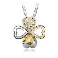 Four leaf clover crystal pendant austria crystal  female gift
