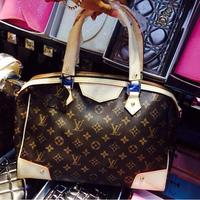 Hot 2014 New European Fashion Luxury Brand Women Ladies Famous Designer Top Quality Handbag Freeshipping Real Leather Tote Bag