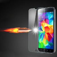 HOT sale 2014 New For Samsung Galaxy S5 Premium Tempered Glass Screen Protector HD Toughened Protective Film Ultra Thin 0.4mm