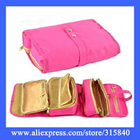 1pc/Lot New 2014 Oxford Mutifunctional Cosmetic Bags Makeup Bag Fancy Wash Bag Necessaries Organizer -- BIB63  Wholesale