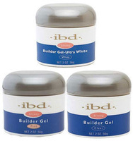 3 color IBD Builder Gel 2oz / 56g  Strong UV Gel Pink Clear White for nail art false tips extension 3PCS Free Shipping