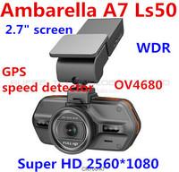 New Arrival 100% original Car DVR Recorder gps CR700 Ambarella A7 With HDR Super HD 2560X1080P 30FPS 140 Degree free shipping