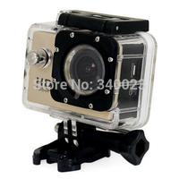 Free Shipping, High Tech SJ4000 Mini Digital Video Camera Full HD1080p Waterproof Helmet Sports DV Camera