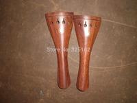 2 PCs Rose wood Violin Tail piece 4/4