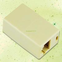 Free Shipping EL0321 RJ45 CAT5 Network Splitter Cable Extender Coupler Plug Adapter