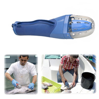 Electric Fish Scaler - Cordless Powerful Fishing Scaler Blue