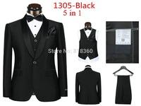 2014 Autumn Of Fashion Men's dress suits, Men's Casual Sportswear Wedding Apparel (Jacket + Vest + Tie + Square Towel + Pants)