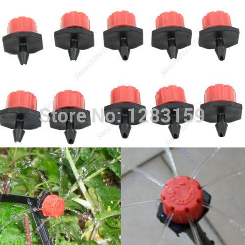 V115 50pcs Garden Irrigation Misting Micro Flow Dripper Drip Head 1/4'' Hose(China (Mainland))