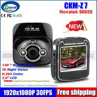 "2014 New Mini Car Dvr Novatek 96650 Z7 Full HD 1080P 2.0"" 140 Wide Angle Car Dvr Styling Camera Parking Night Vision G-sensor"