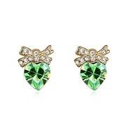 Fashionable Austrian Crystal My Girl Pattern Earrings - Multicolor