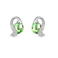 Fashionable Austrian Crystal Love Symphony Pattern Earrings - Multicolor
