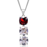 Hot-selling 2014 austria crystal trend square drill pendant double layer chain pendant accessories -