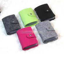 Venda quente Fsshion Vintage Wool Felt ID Cartão de Crédito Titular bolsa carteira bolsa de bolso bolsa até 24 cartões para mulheres(China (Mainland))