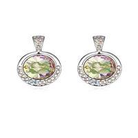 Fashionable Austrian Crystal Shiny Life Pattern Earrings - Multicolor