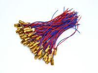 100pcs 650nm 6mm 5V 5mW Red Laser Dot Diode Module Copper Head
