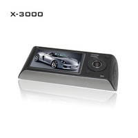 Free shipping 2014 New Design Dual Lens R300 Car Dvr Camera With GPS And 3D G-Sensor With Retail Box
