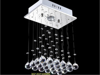 Rectangle Chandelier Modern Restaurant Lamp K9 Crystal Chandeli Lustres De Cristal Hanging Light Living Room Lamps