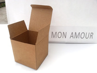 25pcs/lot free shipping 10cmX10cmX10cm kraft paper box cosmetics containers packaging boxes gift bag