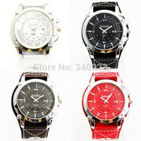 Free Shipping! 2014 Hot New 1PC Fashion Unique Calendar Design Leather Men Quartz Watches, M915