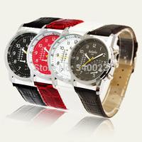 Free Shipping! Hot Fashion Stylish Design Artificial Leather Men's Watch Quartz Watches, M59