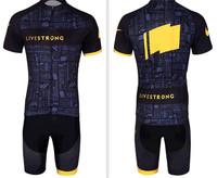 2014 LiveStrong Mountain Bike Sportswear Bicycle MTB Breathable Clothing Set Short Sleeve Cycling Pants Cycling Jerseys Men