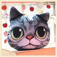 Lovely Tabby Cat Cotton Cushion Covers Creative Soft Home Pillow Decoration Lifelike Animal Car pillow Case  30*40CM B7659