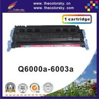 (CS-H6000-6003) print top premium toner cartridge for HP 1600 2600 2605 CM1015 1015 1017 Q6000A Q6001A Q6002A Q6003A free FedEx