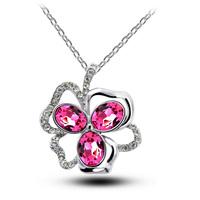 Austria crystal pendant  fashion female short chain purple girlfriend gift