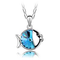 925 necklace female short design chain pendant decoration crystal pendant jewelry accessories