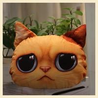 Soft Home Pillow Decoration Grievance Cat Shape Car pillow Case Creative Cotton Cushion Covers 30*40CM B7662