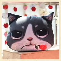 Love Rose Cat Shape Car pillow Case Creative Soft Home Pillow Decoration Cotton Cushion Covers 30*40CM B7661