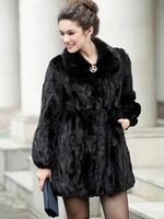 Sales Promotion! 100% Real Genuine Mink Fur Coat Long Jacket Women Vintage Clothing Warm Winter New Fashion