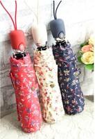 Fully Automatic umbrella fresh stweet stype three-folding sunshade anti UV girl's umbrella free shipping