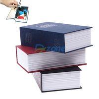 Hot Dictionary Book Cash Money Jewelry Safe Storage Box Case Key Lock Security#57893